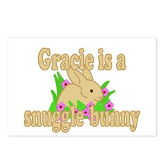 Gracie is a Snuggle Bunny Postcards (Package of 8)