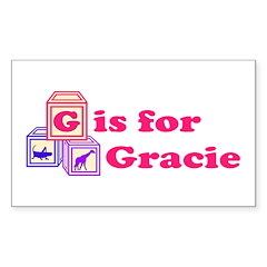 Baby Blocks Gracie Decal