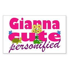 Cute Gianna Sticker (Rectangle)