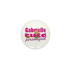 Cute Gabrielle Mini Button (10 pack)