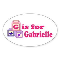 Baby Blocks Gabrielle Sticker (Oval 10 pk)
