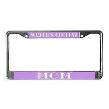 World's Coolest Mom License Plate Frame