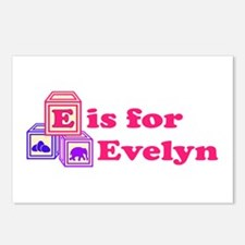 Baby Blocks Evelyn Postcards (Package of 8)