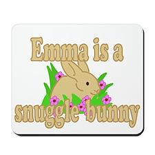 Emma is a Snuggle Bunny Mousepad