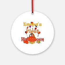 First Halloween Emma Ornament (Round)
