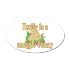 Emily is a Snuggle Bunny 38.5 x 24.5 Oval Wall Pee