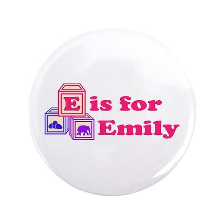 "Baby Blocks Emily 3.5"" Button"