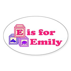 Baby Blocks Emily Decal