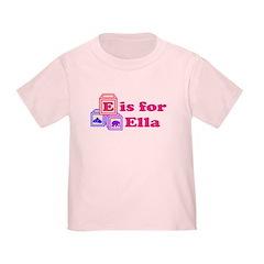 Baby Name Blocks - Ella T
