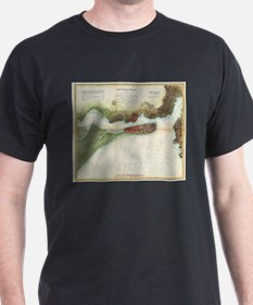 Vintage Mare Island Strait and Vallejo Map T-Shirt