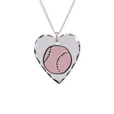 I Heart Softball Necklace