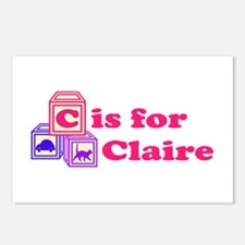 Baby Blocks Claire Postcards (Package of 8)