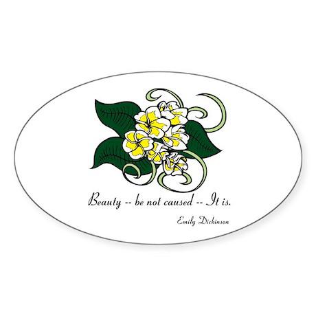 Beauty Is Sticker (Oval)