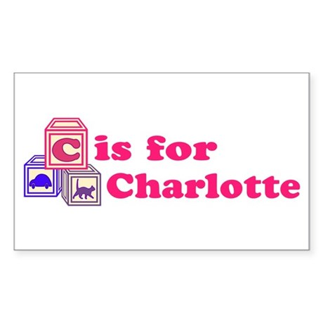 Baby Blocks Charlotte Sticker (Rectangle)