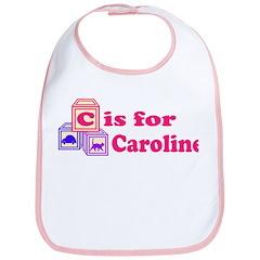 Baby Name Blocks - Caroline Bib