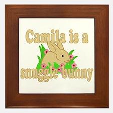 Camila is a Snuggle Bunny Framed Tile