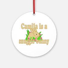 Camila is a Snuggle Bunny Ornament (Round)
