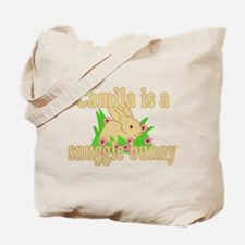 Camila is a Snuggle Bunny Tote Bag
