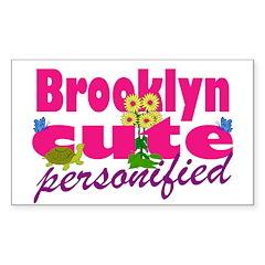 Cute Brooklyn Sticker (Rectangle 10 pk)