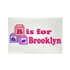 Baby Blocks Brooklyn Rectangle Magnet