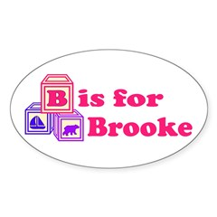 Baby Blocks Brooke Decal