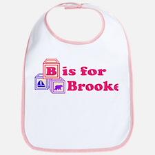 Baby Name Blocks - Brooke Bib