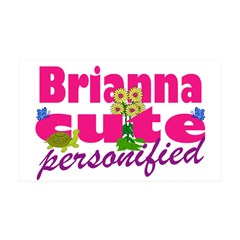 Cute Brianna 38.5 x 24.5 Wall Peel