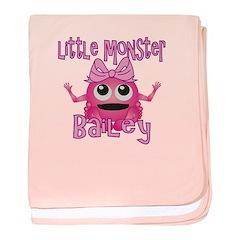 Little Monster Bailey baby blanket