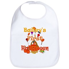 Bailey's First Halloween Bib