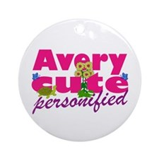 Cute Avery Ornament (Round)
