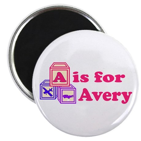 "Baby Blocks Avery 2.25"" Magnet (10 pack)"