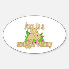 Ava is a Snuggle Bunny Sticker (Oval)