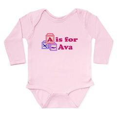 Baby Blocks Ava Long Sleeve Infant Bodysuit