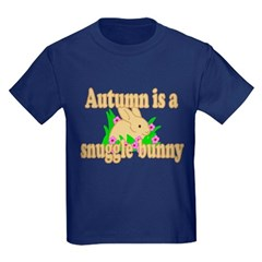 Autumn is a Snuggle Bunny T