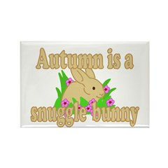 Autumn is a Snuggle Bunny Rectangle Magnet (10 pac
