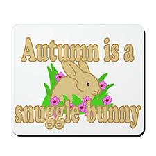 Autumn is a Snuggle Bunny Mousepad