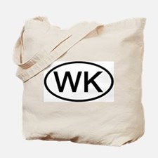 WK - Initial Oval Tote Bag