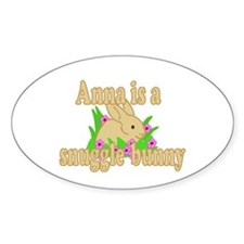 Anna is a Snuggle Bunny Decal
