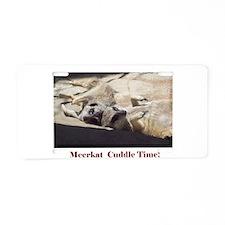 meerkat cuddle time Aluminum License Plate