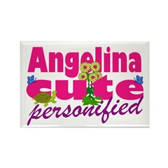 Cute Angelina Rectangle Magnet (100 pack)