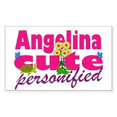 Cute Angelina Sticker (Rectangle 10 pk)