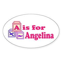 Baby Blocks Angelina Decal