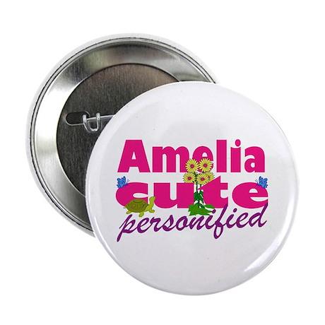 "Cute Amelia 2.25"" Button"