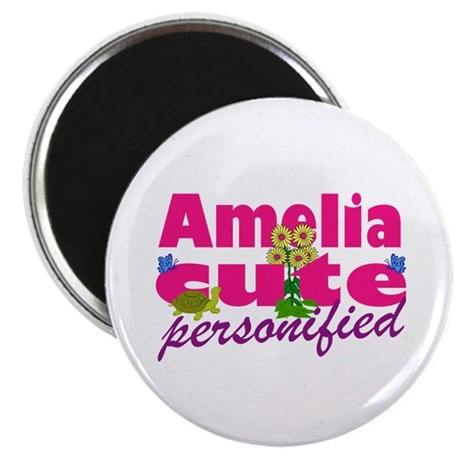 "Cute Amelia 2.25"" Magnet (10 pack)"