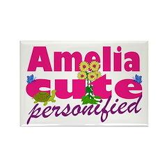 Cute Amelia Rectangle Magnet