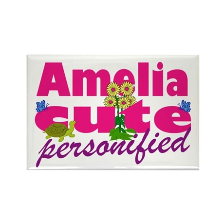 Cute Amelia Rectangle Magnet (100 pack)