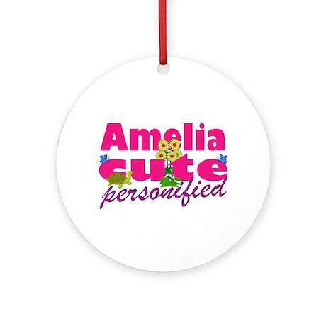 Cute Amelia Ornament (Round)