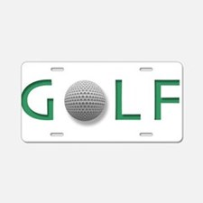 Cute Golf Aluminum License Plate