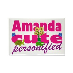 Cute Amanda Rectangle Magnet