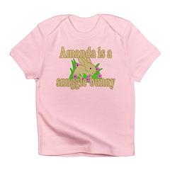 Amanda is a Snuggle Bunny Infant T-Shirt